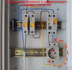 соединение нуля и заземления в розетке Electrical Panel Wiring, Electrical Circuit Diagram, Electrical Plan, Electrical Installation, Home Engineering, Electrical Engineering, Barn Door Hinges, Tiny House Plans, Home Hacks