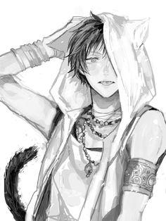 Chico-gato oscuro.