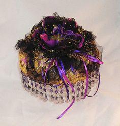 Gypsy Princess purple gold brocade ringbearer by ParisVintageLace Gypsy Wedding, Wedding Veils, Vintage Crafts, Ring Bearer, Handmade Wedding, Purple Gold, Vintage Lace, Princess, Unique Jewelry