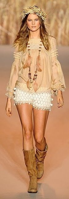 ♥ #BOHEMIAN ☮ #GYPSY ☮ #HIPPIE | Boho chic fashion | Hippie-Boho Style by Ann Sui