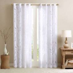 Shop for Madison Park Vina Sheer Bird Single Curtain Panel. Get free delivery On EVERYTHING* Overstock - Your Online Home Decor Outlet Store! Get in rewards with Club O! Bird Curtains, Grommet Curtains, White Curtains, Drapes Curtains, Target Curtains, Modern Living Room Curtains, Sheer Valances, Layered Curtains, Double Curtains