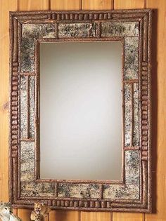 Birch Bark And Twig Adornments Make This Rustic Mirror A Perfect Accessory  For Your Adirondack Cabin Or Lake X