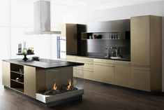 Goldstück - Stahlküche  Das Forster Goldstück aus Chromnickelstahl besticht durch Eleganz und Ästhetik und fügt sich majestätisch im Raum ein.   Lass auch Du dich inspirieren - dein bautrends.ch - Inspirationsteam . . #küche #küchen #kueche #stahl #stahlküche #goldstück #kochinsel #goldeneküche #küchegold #küchestahl #forster #bautrends #bautrendsch #bautrends_ch #forsterküche Kitchen Island, Kitchen Cabinets, Home Decor, Brushed Stainless Steel, Natural Stones, Homes, Restaining Kitchen Cabinets, Room Decor, Home Interior Design