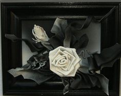 Blumenhintergrund Blüten Glitzer leuchtend 150x50cm Panoramabild Schwarz Weiss