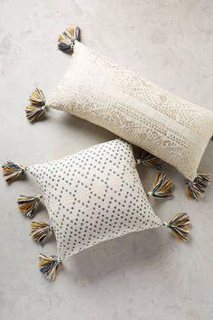 Slide View: 1: Tasseled Pointilliste Pillow