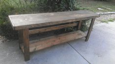 RUSTIC Dark Walnut Stain LARGE 18x78x30h Long Wide Sofa Hall Reclaimed Wood Table Kitchen Island BAR Hall Entryway Entry Custom Sizes Colors