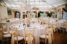 Gorgeous tables by http://www.perfectweds.co.uk/ laid out for Rachel and Ben's wedding here at Mere Court Hotel http://www.merecourt.co.uk/