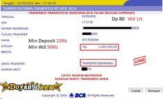 Sistem transaksi Slot Deposit Bank Online 24 Jam juga merupakan keunggulan dan kemudahan yang membuat DoyanJoker sangat di kenal dan di gemari. Adapun Bank yang di sediakan sudah support sampai 7 Bank yaitu : BCA, BRI, BNI, MANDIRI, DANAMON, CIMB NIAGA, BANK PERMATA. Untuk pengguna Bank Daerah juga sudah dapat melakukan deposit dengan melakukan konfirmasi ke Customer Service Doyanjoker Yang Bertugas Joker Online, Slot