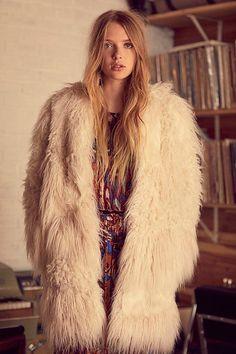 Slide View 4: Lamy Faux Fur Coat