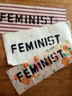 Feminist Patch - Various Fabrics Available, Floral, Pinstripe, Paisley