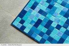 Blue Cowhide Leather for Upholstery and Rugs : Kyle Bunting