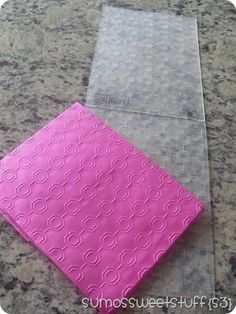 Embossed tissue paper ~ what a great idea!!