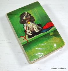 Vintage Deck of Cards Pinochle Big Eyes Dog by AntiquesGaloreGal, $6.00
