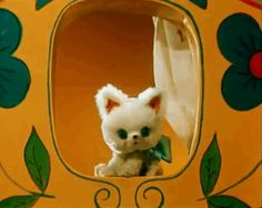 """КАК СТАТЬ БОЛЬШИМ """"Adorable vintage Russian Stop motion animated film featuring a sweet little kitty. Look Vintage, Vintage Art, Nostalgic Images, Little Kitty, All Things Cute, Animation Film, Stop Motion, Vintage Dolls, Cute Art"""