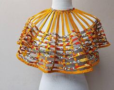 African Inspired Fashion, Latest African Fashion Dresses, African Dresses For Women, African Print Dresses, African Print Fashion, Africa Fashion, African Attire, African Wear, African Necklace