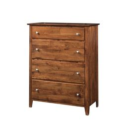 Amish Shoreview 4-Drawer Chest See the beauty of solid wood shine in the Shoreview. Chest of drawers custom built to match your bedroom. Choose wood, stain and hardware. Amish made in America. #chestofdrawers #bedroomstorage