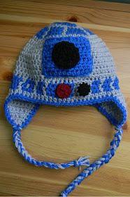 6e816d690ce Nesting Sticks: Crocheted R2D2 Earflap Hat {Pattern} Gorros Divertidos,  Tejer Bufandas,