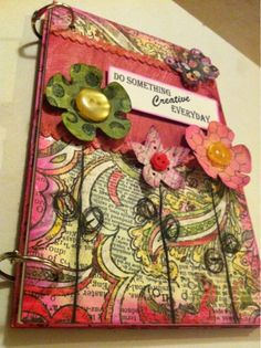 Tracy Weinzapafel inspired Create Every Day Art Journal - Cover.