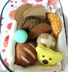 Felt Food French Bakery Set Felt Rolls Sponge Cake by decocarin