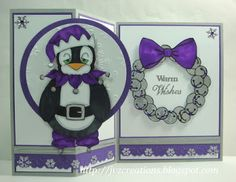 Finn is one of those people (or should I say penguins) who doesn't quite catch the spirit of Christmas. Digital Stamps, Penguin, Stamping, Frame, Cards, Picture Frame, Digi Stamps, Stamping Up, Penguins
