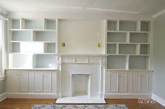Fireplace built ins shelving