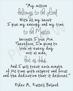 Missionary Quote LDS Mormon Ballard Mission Belongs to Lord God Downloadable Printable Instant Download JPG JPEG