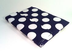 iPad Mini Case, iPad Mini Cover, iPad Mini Sleeve in navy and white polka dots. $22.00, via Etsy.