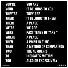 Need to remember all the different spellings of these words I'm terrible at it!