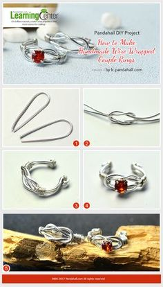 Pandahall DIY Project - How to Make Handmade Wire Wrapped Couple Rings from LC.Pandahall.com