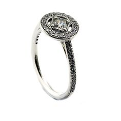 Vintage Allure Ring with clear cz Authentic 925 Sterling Silver Rings for Women Fine Jewelry Free shipping PFR097