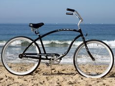 Men's single speed cruiser by Firmstrong. The Chief is a classic cruiser with an elongated frame and forward pedaling, ideal for taller riders. 26 Beach, Inch Beach, Beach Cruiser Bikes, Beach Cruisers, Tall Men, Tall Guys, Matte Black, Black And Grey, Bicycle