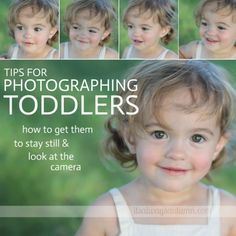 Learn how to get great photos of your toddler or preschooler with these tips for getting them to sit still and look at the camera.