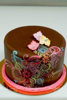 Birthday Cakes - Painting on chocolate fondant