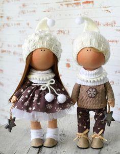 Doll Boy New Year Doll Winter Christmas Doll Vinter Fabric