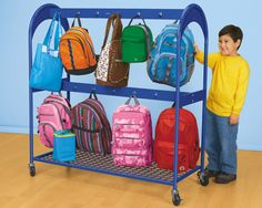 Hang Lakeshore's At-Your-Seat Storage Sack over the back of students' chairs to put school supplies within reach—and keep children's desks clutter-free!