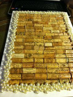 Pearal/Wine Cork Jewlery organizer I made