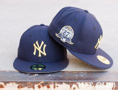 New York Yankees 27 Time World Series Champions Patch Fitted Cap @ HAT CLUB
