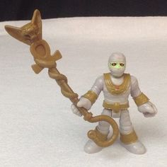 Fisher-Price Mummy Monster Lab Figure Egypt Pyramid Imaginext Staff Hat Part #Imaginext