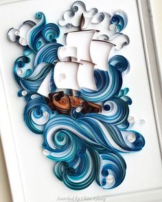 Unknown artist - Quilled sea and ocean pictures (Searched by Châu Khang)