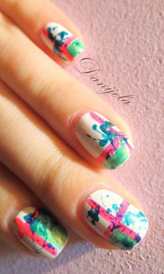 random colorful #nails