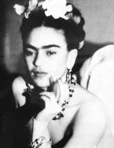 Beautiful youth Friday kahlo photo portrait