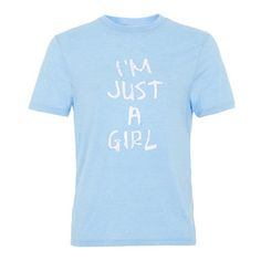 i'm just a girl tshirt from teeshope.com This t-shirt is Made To Order, one by one printed so we can control the quality.