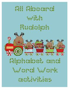 All Aboard with Rudolph - Alphabet and Word Work Activities product from Teaching-in-Blue-Jeans on TeachersNotebook.com