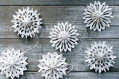 .3D paper snowflakes