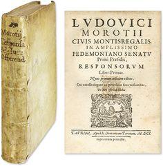 Responsorum Liber Primus, Nunc Primum in Lucem Editus.. | Lodovico Morozzo