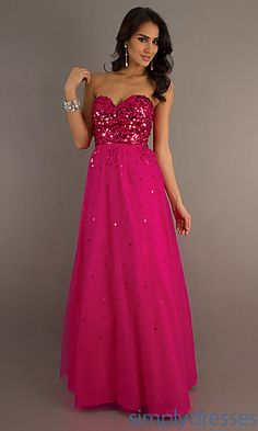 Floor Length Strapless Sweetheart Formal Dress at SimplyDresses.com