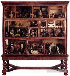 dollhouse in a cabinet. I will never do this, but I love it. I just love to think about all that they did to make this so cool.