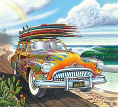 Jim Phillips | COTW Surf Artist. He also is known for painting 'Woodies'