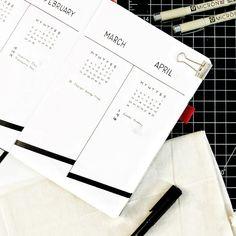 Bullet journal future log, linear design. | @pacificnotation