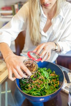 Alice Gregory's Arugula, Pistachio and Anchovy Salad | SALAD for President